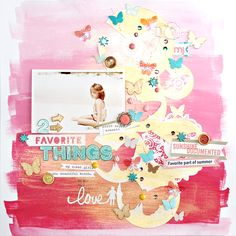 Using Paint on your Scrapbook Pages by Corrie @ shimelle.com