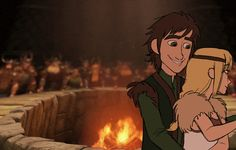 Hiccup and Astrid dancing at their wedding (using Stoick and Valka's dance as a reference) :)