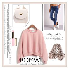 """""""Romwe"""" by malina-husgovic ❤ liked on Polyvore featuring Clarins"""