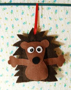 Brown felt hedgehog decoration £3.99 - how cute is this!,
