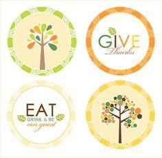 Printable Thanksgiving Stickers
