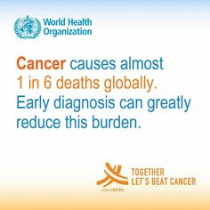#cancer #health #diagnosis #who