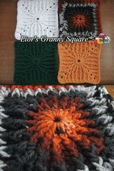 Lior's Granny Square – Free Crochet Pattern - by Meladora's Creations
