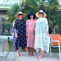 Women Wearing Easy-to-Sew Caftans