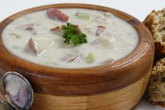 White Victoria Clam Chowder.  When this recipe was requested by a Country Grocer shopper, we decided to make it healthier than the traditional New England chowder. We used coconut milk instead of heavy cream and potatoes to thicken the base instead of flour. http://www.countrygrocer.com/recipe/white-victoria-clam-chowder/