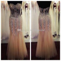 Wholesale Mermaid Prom Dresses - Buy 2015 SSJ Sparkling Crystal Mermaid  Prom Dresses Sweetheart Backless Sequin f881d94fdf54