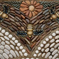 Garden art diy stone pebble mosaic 39 ideas for 2019 . Garden art diy s Pebble Mosaic, Pebble Art, Mosaic Art, Mosaic Glass, Rock Mosaic, Mosaic Stones, Mosaic Walkway, Stained Glass, Pebble Floor