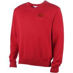 San Francisco 49ers Cutter   Buck Broadview V-Neck Sweater - Scarlet. Atlanta  Falcons Shirts ... 273341ba1