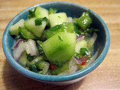 cucumber habanero salsa...will be using serrano instead