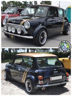 Its HUMP DAY MINIACS! Getting the Wide Arched Wednesday wheels rolling is a gorgeous Black n Gold chunky arched Mini from our friends Over The Pond. Love love love this colour combo, really suits this lil beast. Have a great day folks