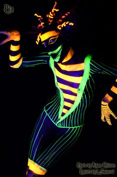 UV Light Body Paint - Snake Suit by *Doomsday-Dawn on deviantART