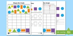 Bar Graphs with Shapes Differentiated Activity Sheets - bar graphs, collecting data, collating data, mathematics, ACMSP263, ACMSP049, ACMSP050, ACMSP069, AC