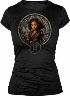 $20  Amazon.com: The Hunger Games Rue Juniors T-Shirt ,Black ,Large: Clothing