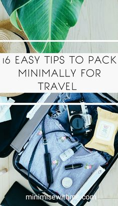 Do you love to travel but get overwhelmed with packing and not know if you've packed too much or how to make the most of your space? Check out this weeks blog where I share 16 tips on how to pack minimally for travel and what I found the most useful on my most recent travel adventure!