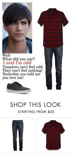 """""""Joshua Lahey"""" by trislessa ❤ liked on Polyvore featuring Yves Saint Laurent, 21 Men and Vans"""