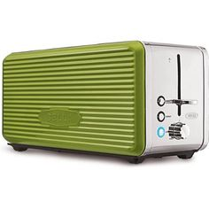 BELLA Linea Collection 2 Slice Toaster with Extra Wide Slot, Polished Stainless Steel Red 4 Slice Toaster, Lime Green Kitchen, Kettle And Toaster, Kitchen Must Haves, Cool Kitchens, Walmart, Kitchen Appliances, Kitchen Stuff
