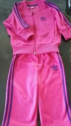 Survetement adidas fille rose et violet