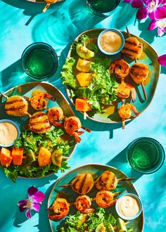 passion-fruit-shrimp-scallop-skewers-RU343545 Shrimp Dishes, Shrimp Recipes, Fish Recipes, Fish And Seafood, Seafood Dinner, Pork Ribs Grilled, Grilled Food, Coconut Basmati Rice, Prosciutto Melon