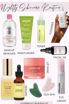 An simple 10-minute nightly skincare routine via The Beauty Minimalist; skincare tips; skincare 101; skincare for beginners Skin Routine, Skincare Routine, Diy Skin Care, Skin Care Tips, Minimalist Skincare, Weleda Skin Food, Healthy Skin Tips, Alcohol Free Toner, Beauty Consultant