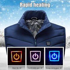 (Last day promotion-50% OFF) Unisex Warming Heated Vest – iGo Store Sleevless Jacket, Vest Jacket, Heated Jacket, Dog Walking, Winter Jackets, Menswear, Usb, Warm, Superhero