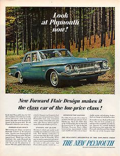 VINTAGE-ORIGINAL-1962-PLYMOUTH-4-DOOR-SEDAN-MAGAZINE-ADVERTISEMENT-10-034-X-13-1-2-034