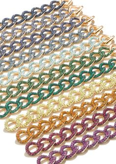 Pomellato Link Bracelets at London Jewelers in all colors and stone variety!