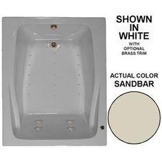 Watertech Whirlpool Baths 60-In L X 48-In W X 24-In H Sandbar Acrylic