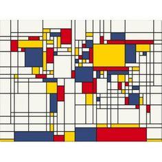 Mondrian Style World Map