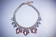 Bella necklace, perfect to dress up any outfit. By Rumer of London