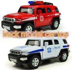 1: 32 de aleación de off-road coches de policía, Tira Del modelo del coche de bomberos de juguete, puertas de apertura Música Diecast coche de juguete, el favorito de los niños
