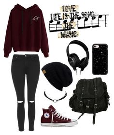 """""""Untitled #7"""" by sampetal ❤ liked on Polyvore featuring AllSaints, Topshop, Converse, Casetify and Homedics"""