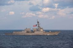The guided-missile destroyer USS Chung-Hoon (DDG 93) transits the waters surrounding the Korean peninsula.
