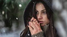 Winter portrait Ewa  More photos on website: http://fotograflubin.pl woman, snow, winter, snowing, photosession, portrait, beauty, girl
