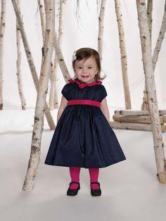 Tea-length with zipper back taffeta dress for flower girl