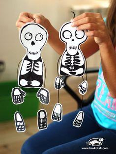 15 Skeleton Crafts for Kids Halloween Arts And Crafts, Halloween Decorations For Kids, Halloween Activities, Halloween Kids, Halloween 2020, Manualidades Halloween, Adornos Halloween, Skeleton Halloween Costume, Halloween Skeletons