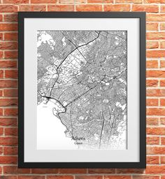 Athens City Map Print Digital Download, Greece, Street Map Art,map print, map poster,print map art travel, City Map Wall Art Map Wall Art, Map Art, Printing Services, Online Printing, Athens City, Poster Prints, Print Map, Simple Prints, City Maps