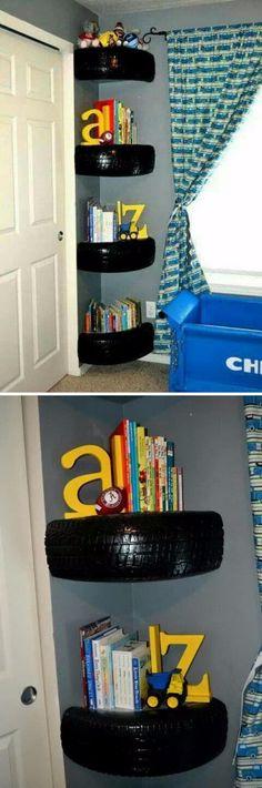 Tire Book Shelves.