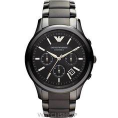 Mens Emporio Armani Renato Ceramica Ceramic Chronograph Watch AR1452