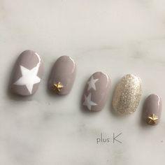 ネイル ネイル in 2020 Star Nail Art, Star Nails, My Nails, Summer Holiday Nails, Winter Nails, Winter Nail Designs, Nail Art Designs, Feet Nail Design, November Nails