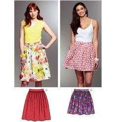 kwik sew k3794. easy elastic skirt. view b.