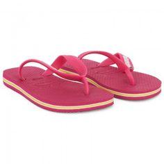 Havaianas Kids Girls Pink Branded Flip Flops | AlexandAlexa