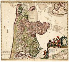 https://flic.kr/p/FxZnch | Noord-Holland 1700 | 'Hollandiae Septentrionalis & Frisiae Occidentalis', kaart van Noord-Holland met rechtsonder Texel, Vlieland en Terschelling. Vervaardiger: Ottens, J. Catalogusnummer: PR 1005078