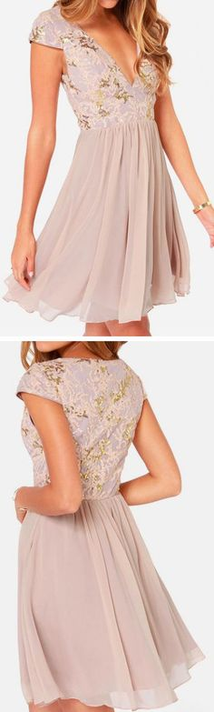 Dusty Rose Sequin Dress