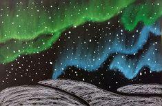 O's Art Room: Grade Northern Lights with soft pastels Winter Art Projects, School Art Projects, January Art, 4th Grade Art, Ecole Art, Art Classroom, Art Club, Art Plastique, Art Activities