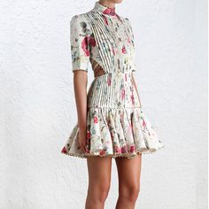 Mischief Corset Laced Dress, from our Spring 16 collection, in Floral printed linen Cute Dresses, Sexy Dresses, Vintage Dresses, Dress Outfits, Casual Dresses, Short Dresses, Fashion Outfits, Summer Dresses, Cheap Dresses