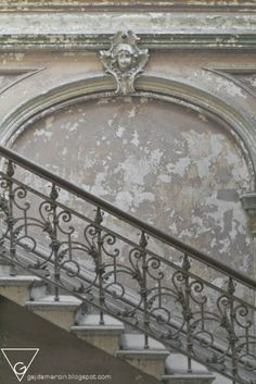 The Caledonian Mining Expedition Company: Krowiarki Palace, Poland. French Grey, French Style, Stair Railing, Banisters, 50 Shades Of Grey, Wrought Iron, Luxury Interior, Interior Paint, Take The Stairs