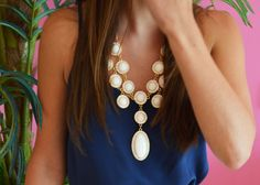 Lilly Pulitzer Dusk Top & Set in Stone Necklace