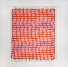 Anette Blaesbjerg Orom - 'Oerom 20'  - One of a kind weaving, hand stitched and embroidered.