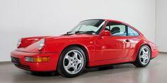 Wunderschöner 964 RS in indisch-rot mit geringer Laufleistung. Porsche 911 964, Porsche Cars, Manual Transmission, Automatic Transmission, Convertible, Passion, Board, Classic, Motorbikes