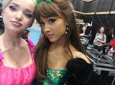 Dove Cameron with Ariana Grande